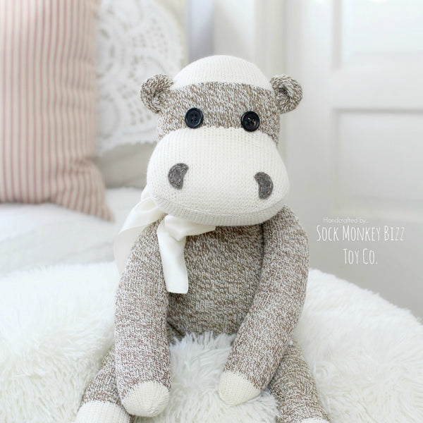"Hippopotamus, Handcrafted 18"" Hippo Doll"