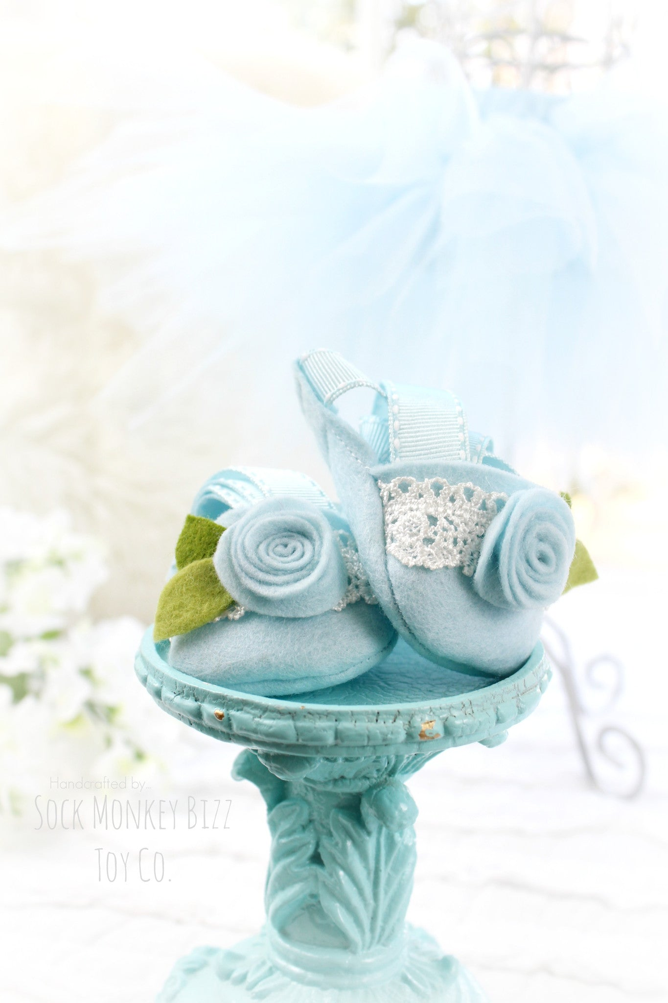 Light Blue Ballerina Tutu Set for Sock Monkey Bizz Dolls