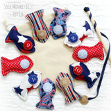 Magnetic Fishing Game, Patriotic, Red, White, and Blue