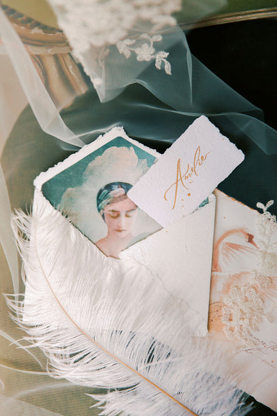 Madame Tulle wedding veil and stationery