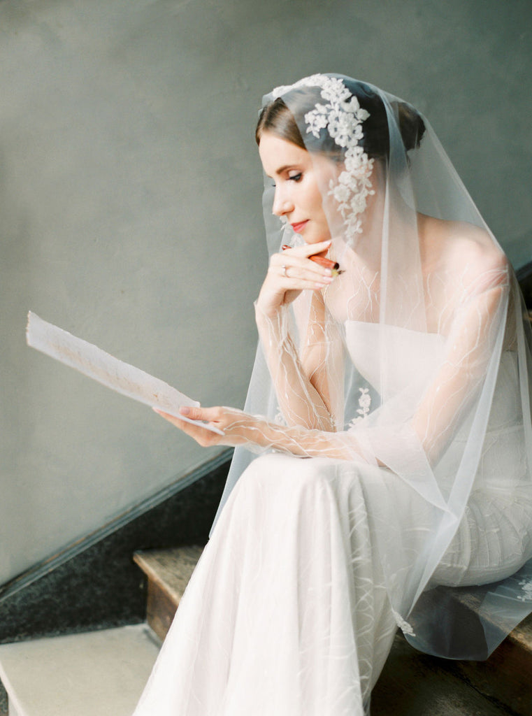 Lace wedding veil by Madame Tulle