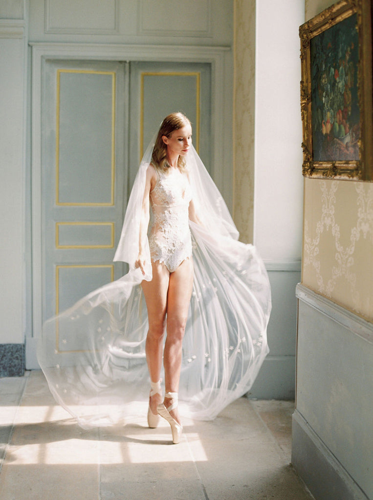 Floral veil by Madame Tulle bridal Australia