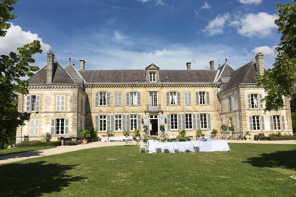 Chateau de Mairy France in summer
