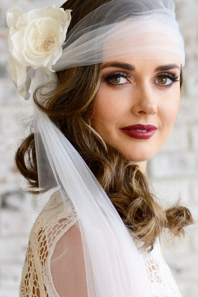 Madame Tulle wedding veil bride