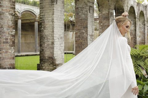 Madame Tulle wedding veil one tier cathedral