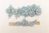 AMAYA | Blue Wedding Garter Set