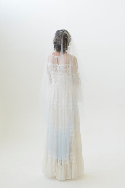 ZARA | Blue Ombré Drop Veil