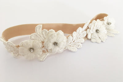 ELSIE | Ivory Wedding Garter
