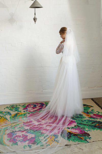 ALEXA | Two Tier Veil in Cathedral Length
