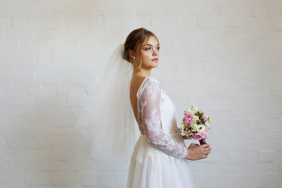 ALEXA | Two Tier Veil in Elbow Length