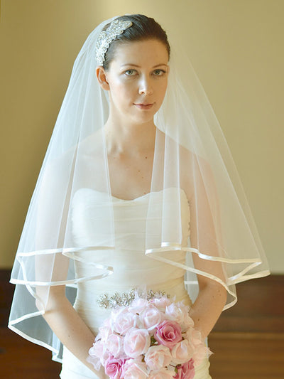 SIERRA | Satin Edged Veil