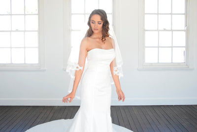 CALISTA | Two Tier Veil with Lace Trim