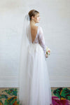 SYBIL | One Tier Veil in Waltz Length