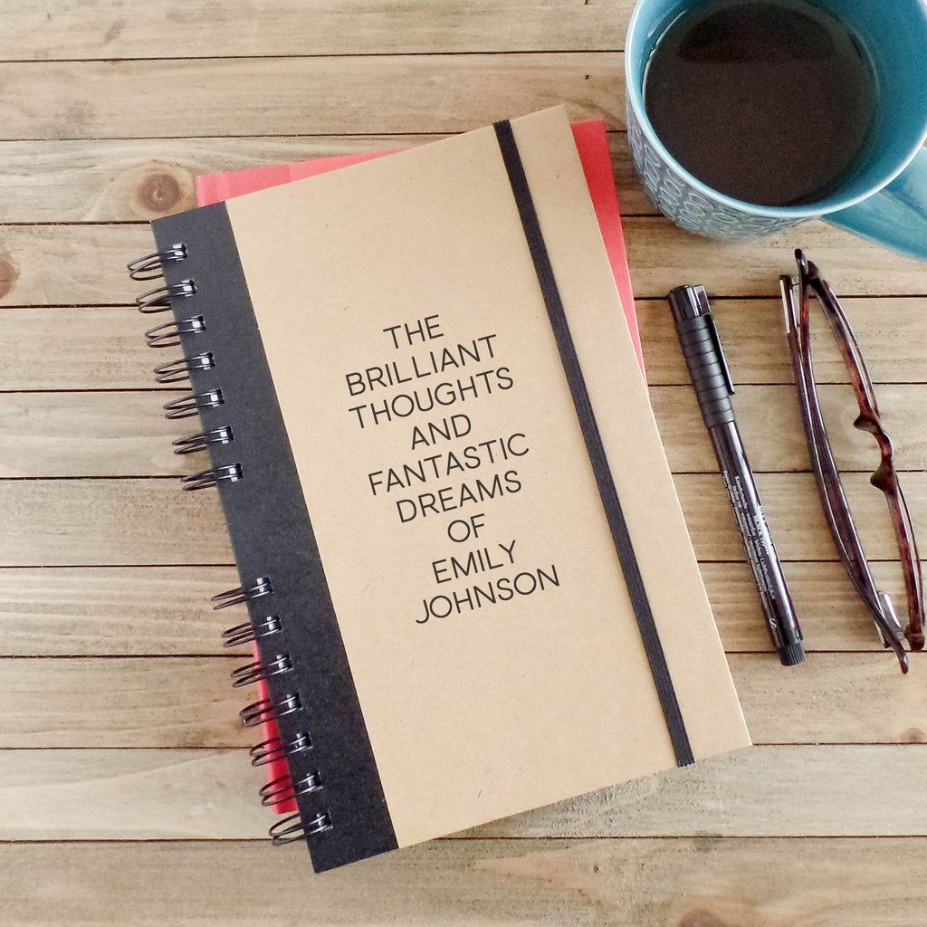 Personalized Brilliant Thoughts Writing Journal