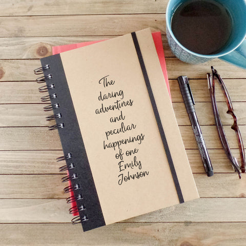 Personalized Daring Adventures Travel Journal