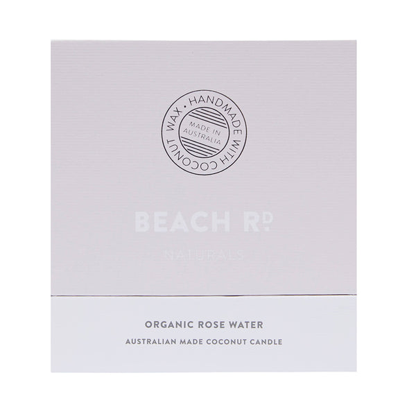 Organic Rose Water Coconut Candle (300g)