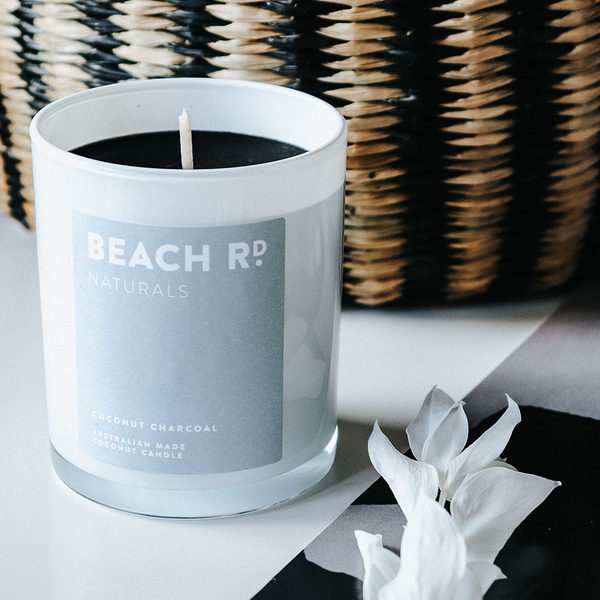 Organic Coconut Charcoal Candle (300g)