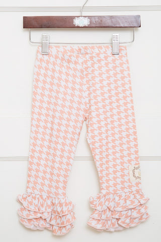 Triple Ruffle Leggings-Houndstooth