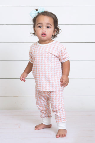 Infant Short Sleeve Set-Houndstooth