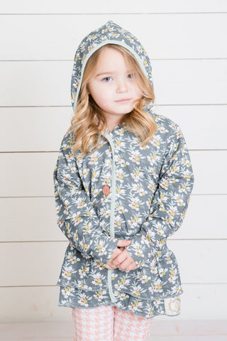 Hailey's Hooded Jacket-Dreamy Floral
