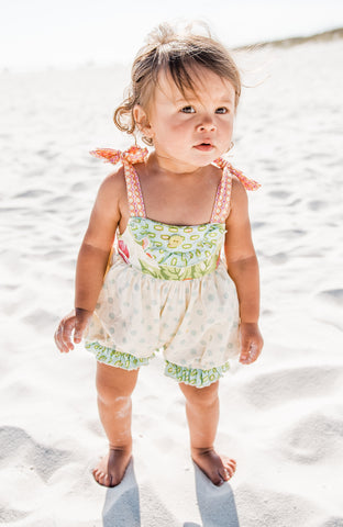 Yoke Top Baby Romper-Garden of Eden