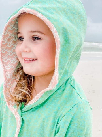 Hailey's Hooded Jacket-Damask