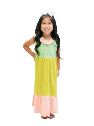 Most Wanted Maxi Dress-Lime