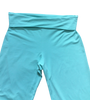 Adult Double Ruffle Capri's-Solid Aruba Blue