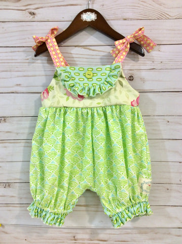 Yoke Top Baby Romper-Sea of Glass