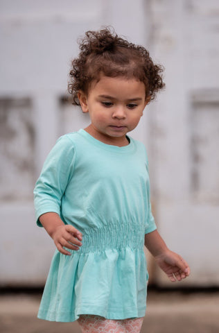 Faith's Favorite Peasant-Solid Aruba Blue