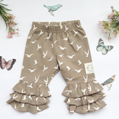 Triple Ruffle Leggings Sparrow-Fly High