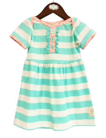 Lap Dress- Aruba Stripe