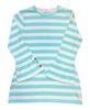 Adult Ruffle Sleeve Top-Aruba Stripe