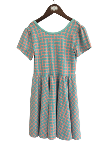 Puff Sleeve Ballet Dress-Polka Dot