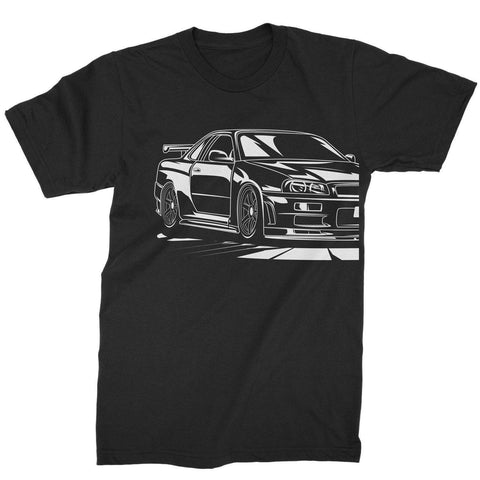 R34 Outline Tee - Tunedintokyo JDM Clothing