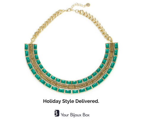 your bijoux box jewelry subscription box luxe lux holiday house of harlow deepa gurnani