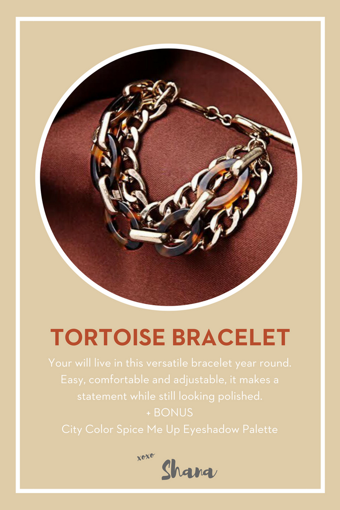 october your bijoux box tortoise braclelet