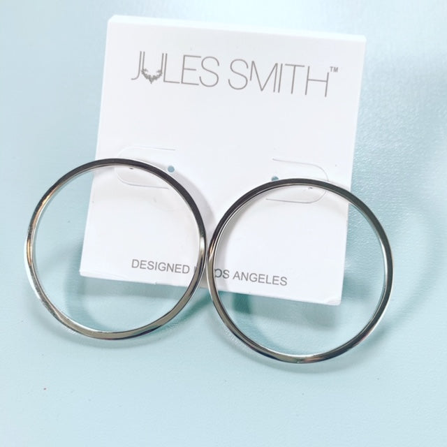 Jane Hoops Silver - Jules Smith