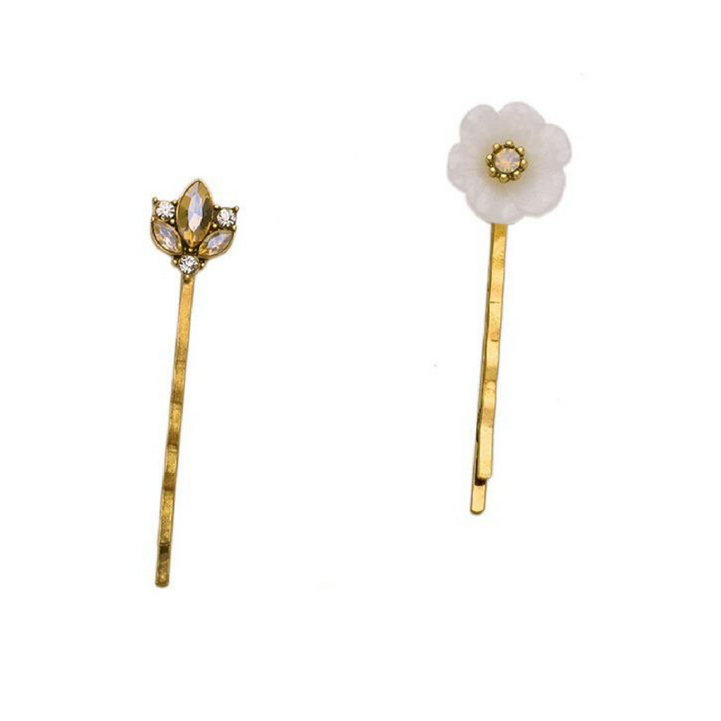 april flowers hair pins