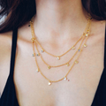 Marlin Necklace - Rose Gold/ Silver