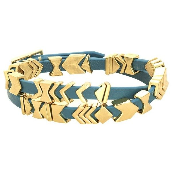 Aztec Leather Wrap Bracelet by House of Harlow