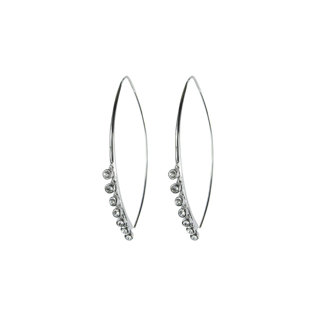Lure Fringe Threaders Earrings by Jules Smith - Silver