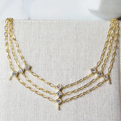 Tulum Necklace Gold - Jules Smith
