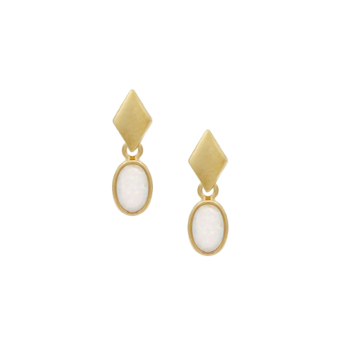 Opal Drop Earrings by Five and Two