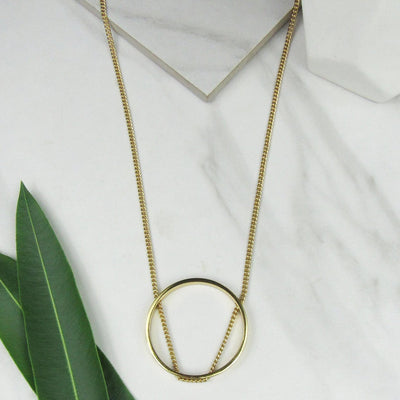 Open Circle Necklace by Jules Smith