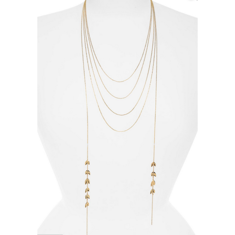 Layered Lariat Necklace by Jules Smith