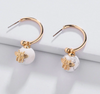Bee Howlite Hoop Earrings