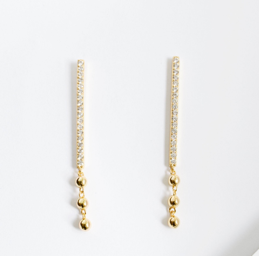 Long Bar Drop Earrings by Jules Smith