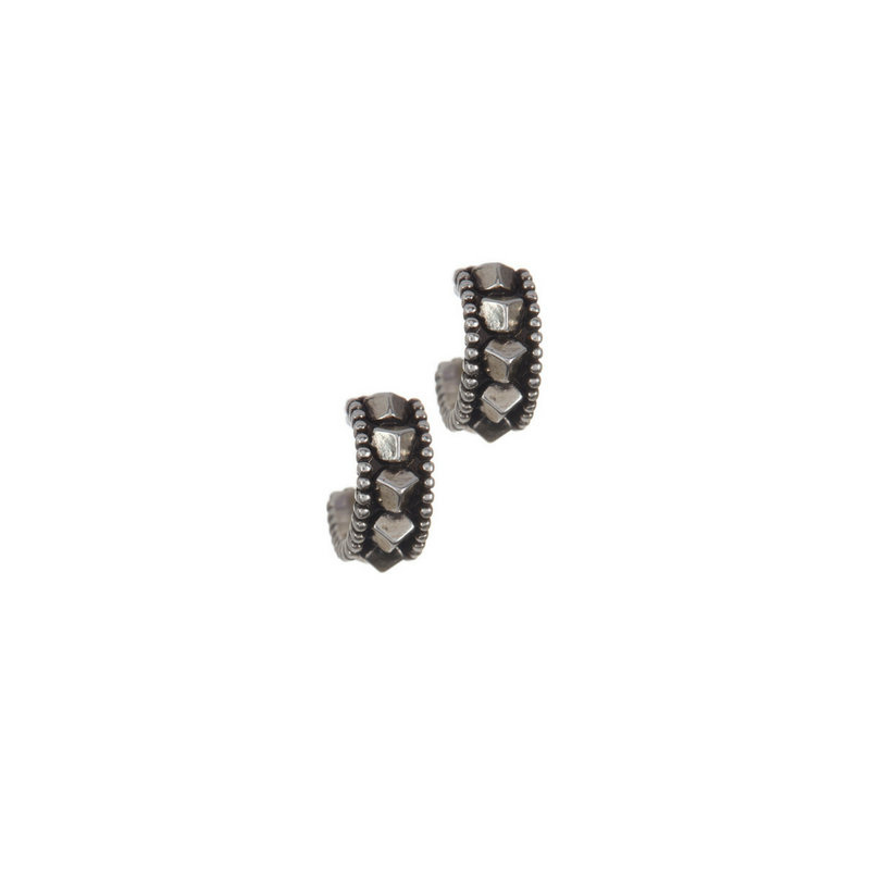 House of Harlow Silver Huaca Hoop Earrings