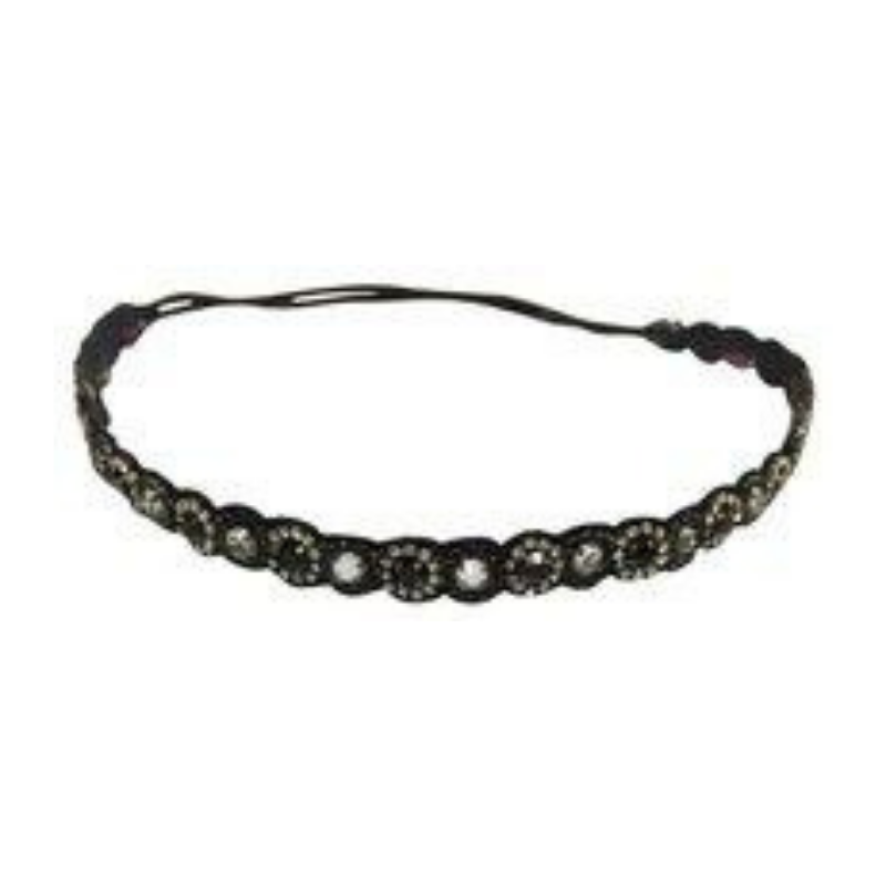 Deepa Gurnani Black Beaded Headband